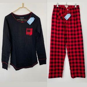 Little Blue House Plaid Jersey Pajama Matching Set